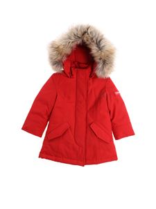 "Woolrich - Red ""Arctic Parka"" down jacket"
