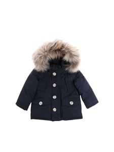 "Woolrich - Dark blue ""My First Parka"" down jacket"