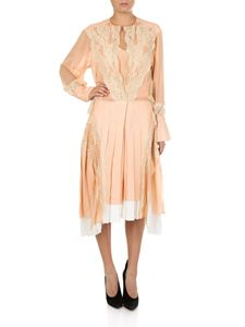 Chloé - Pink dress with lace insert