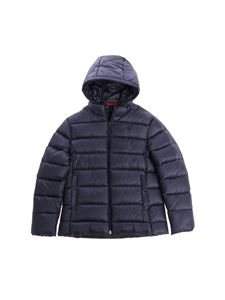 Fay Jr - Blue hooded down jacket
