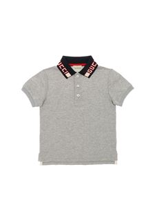 Gucci - Grey polo shirt with logo