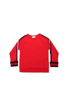Gucci - Red sweatshirt with logo stripes