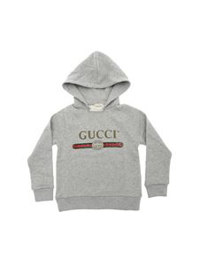 Gucci - Grey sweatshirt with logo print