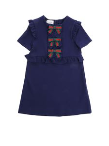 Gucci - Blue dress with bow details