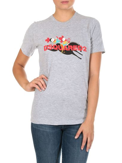 Dsquared2 - Grey t-shirt with multicolor print