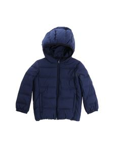 EA7 Emporio Armani - Blue down jacket with logo