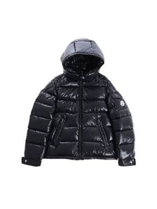 "Moncler Jr - Glossy black ""New Maya"" down jacket"