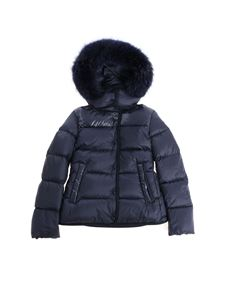 "Moncler Jr - Blue ""Armandine"" down jacket"