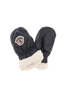 Moncler Jr - Blue gloves with fleece lining