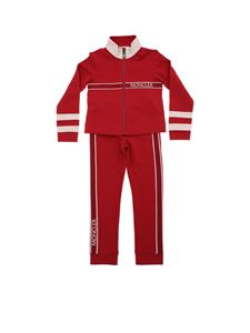 Moncler Jr - Red and pink tracksuit with gros-grain ribbon