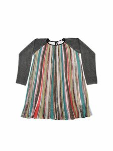 Missoni Kids - Multicolor long-sleeve lamé dress