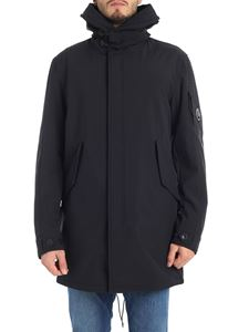 CP Company - Shell parka in black with logo