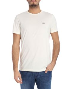 CP Company - Cream-color T-shirt with logo