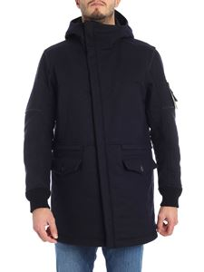 Stone Island - Blue padded coat