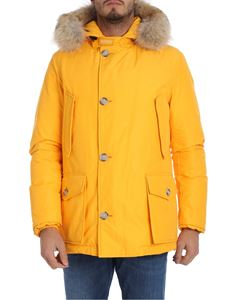"Woolrich - Yellow ""Artic Anorak"" down jacket"