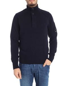 CP Company - Blue sweater with logo