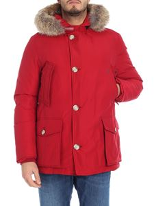 "Woolrich - Red ""Artic Anorak"" down jacket"