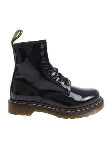 "Dr. Martens - Black ""1460 W"" military boots"