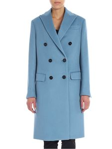 Fay - Light-blue wool and cashmere coat