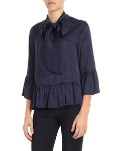 KI6? Who are you? - Blue blouse with ruffles