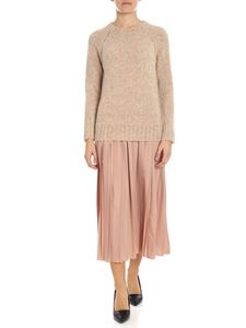 Ballantyne - Beige dress with knitted top