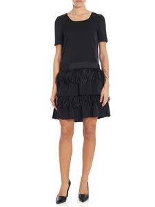 Blugirl - Black dress with ostrich feathers