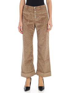 "Jacob Cohën - ""Astra"" camel-colored corduroy trousers"