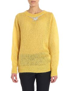 KI6? Who are you? - Yellow pullover with silver rhinestones