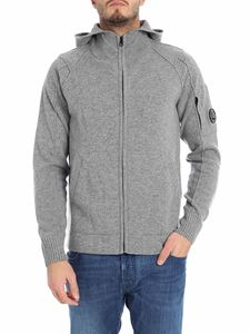CP Company - Grey cardigan with logo
