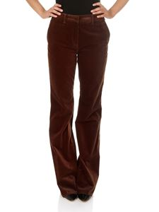 Etro - Rust-colored corduroy trousers