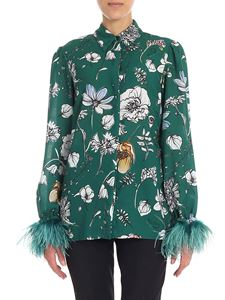 KI6? Who are you? - Green shirt with floral print