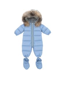 "Moncler Jr - Light-blue ""Cayalar"" snowsuit"