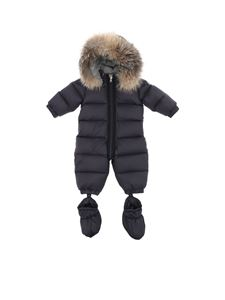 "Moncler Jr - ""Cayalar"" blue down snowsuit"