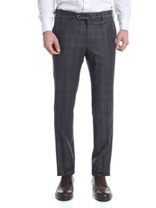PT01 - Charcoal grey check trousers
