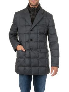 Fay - Charcoal grey tweed down jacket
