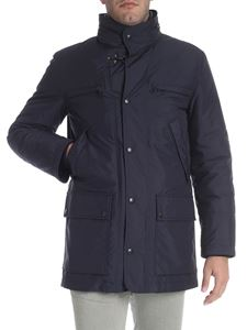 Fay - Blue coat with patch pockets