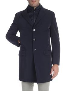 Fay - Blue coat with notch lapels