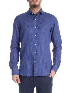 Sartoria Campo - Blue shirt with polka dots print