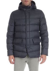Fay - Charcoal grey hooded down jacket