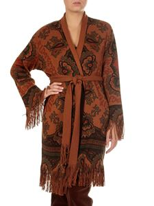 Etro - Brown cardigan with fringes
