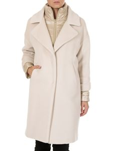 Herno - White coat with inner down jacket
