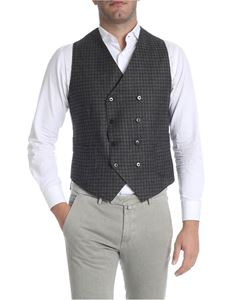 Briglia 1949 - Black and gray vest with patch pockets