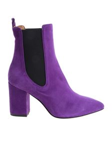 Paris Texas - Purple pointy ankle boots