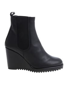 Castaner - Black leather ankle boots