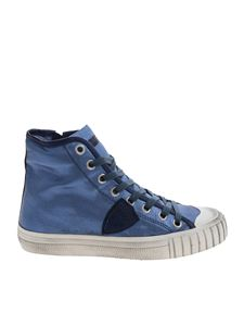 "Philippe Model - Sneaker ""Gare"" blu denim"