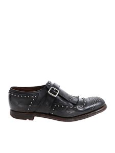 Church's - Charcol grey Shanghai shoes with studs