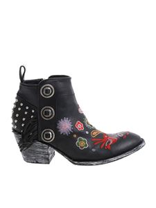 Mexicana - Black embroidered ankle boots