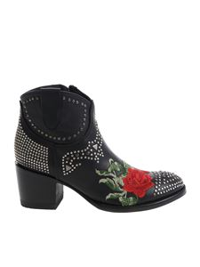 Mexicana - Black ankle boots with studs