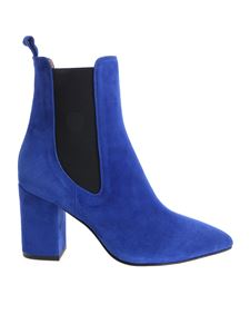 Paris Texas - Electric blue pointy ankle boots