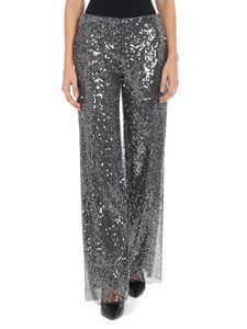 Ermanno by Ermanno Scervino - Gray trousers with sequins